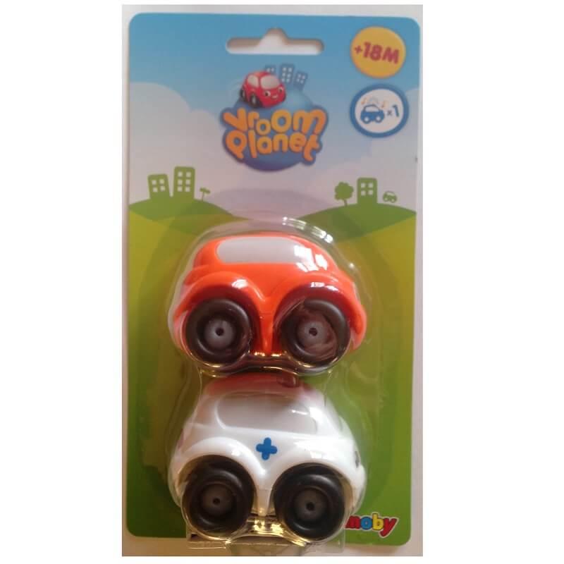 Voitures enfant ambulance et voiture orange vroom planet smoby